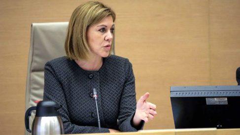 María Dolores de Cospedal, en el Congreso. (EFE)