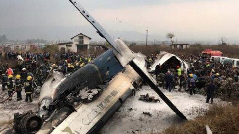 Imagen de archivo de un accidente de avión.
