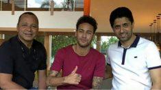 Los Neymar posan con el jeque en Brasil-
