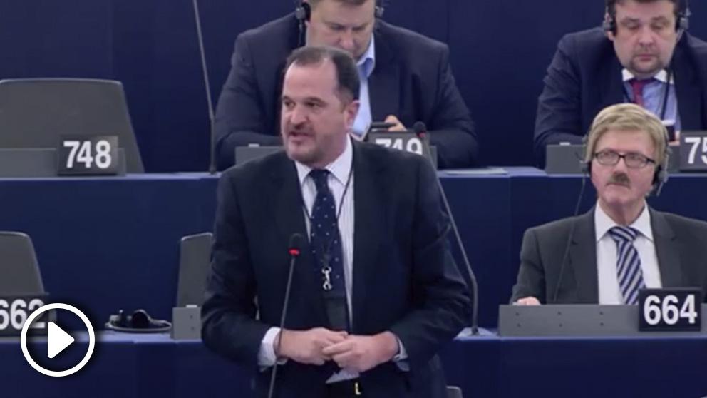 Carlos Iturgaiz en el Parlamento Europeo
