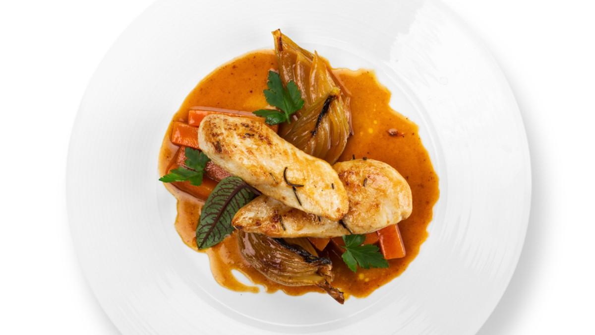 Receta de pechuga de pavo en salsa de almendras