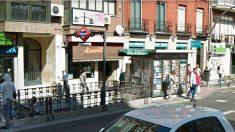 Estación de metro de Tetuán, en la calle Bravo Murillo de Madrid, donde se produjo el suceso.