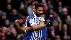 Willian José celebra un gol con la Real Sociedad. (Getty)