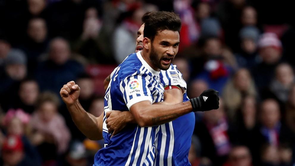 Willian José celebra un gol con la Real Sociedad. (Getty)