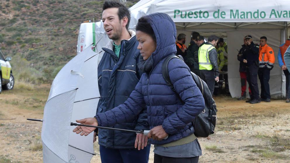 Ana Julia Quezada, presunta asesina de Gabriel Cruz, junto al padre del menor. (Foto: EFE)