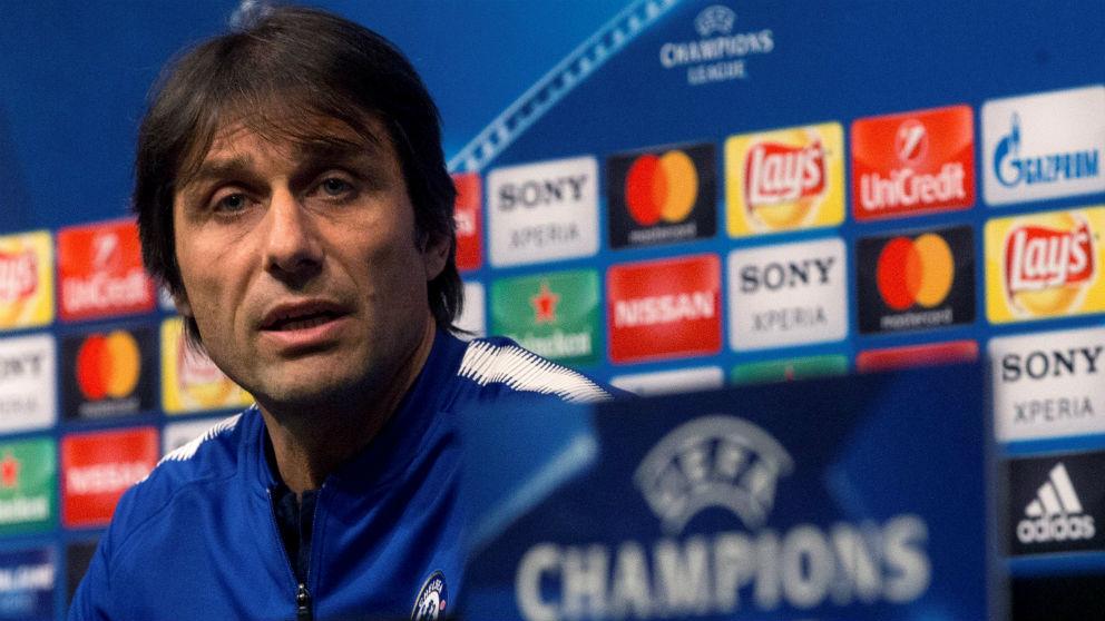 Antonio Conte, durante la rueda de prensa previa al Barcelona – Chelsea. (EFE)