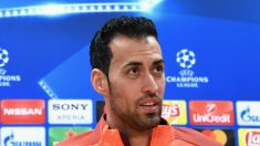 Sergio Busquets, durante la rueda de prensa previa al Barcelona – Chelsea. (Getty)