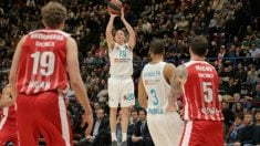Jaycee Carroll, en una acción en Milán. (@EuroLeague)