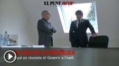 Carles Puigdemont abre por primera su mansión de Waterloo a la prensa afín
