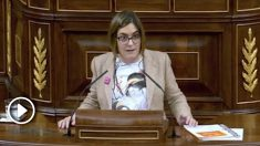 Marta Sorlí (Compromís), en la tribuna del Congreso.
