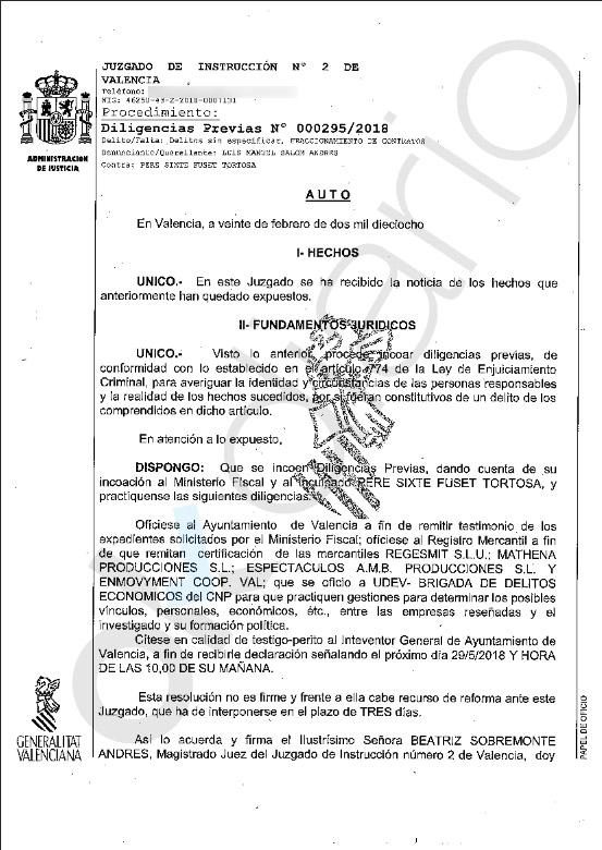 La Justicia investiga a Compromís por financiación ilegal a través de cuatro empresas