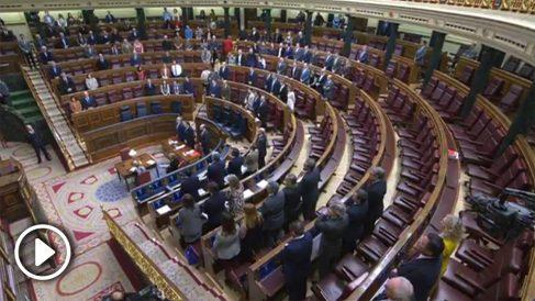 El Congreso de los Diputados, casi vacío, guarda un minuto de silencio por Gabriel Cruz.