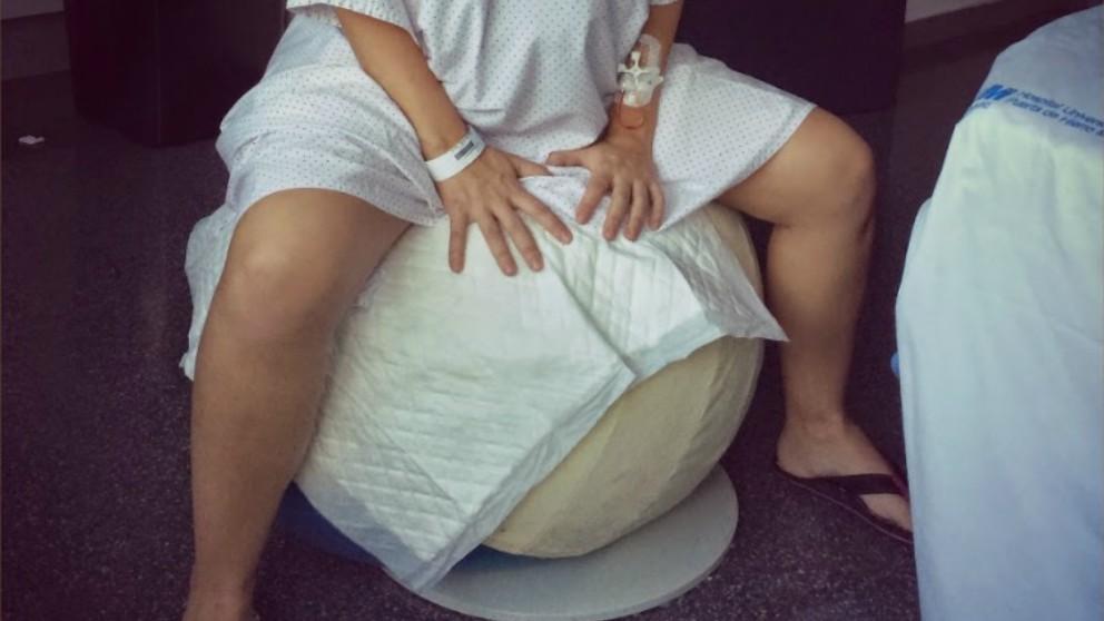 Ejercicios para el parto con la pelota de dilatación