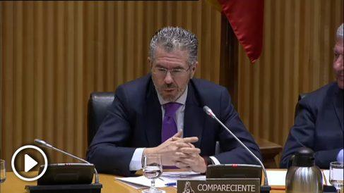 Francisco Granados responde en el Congreso a Iñigo Errejón de Podemos.