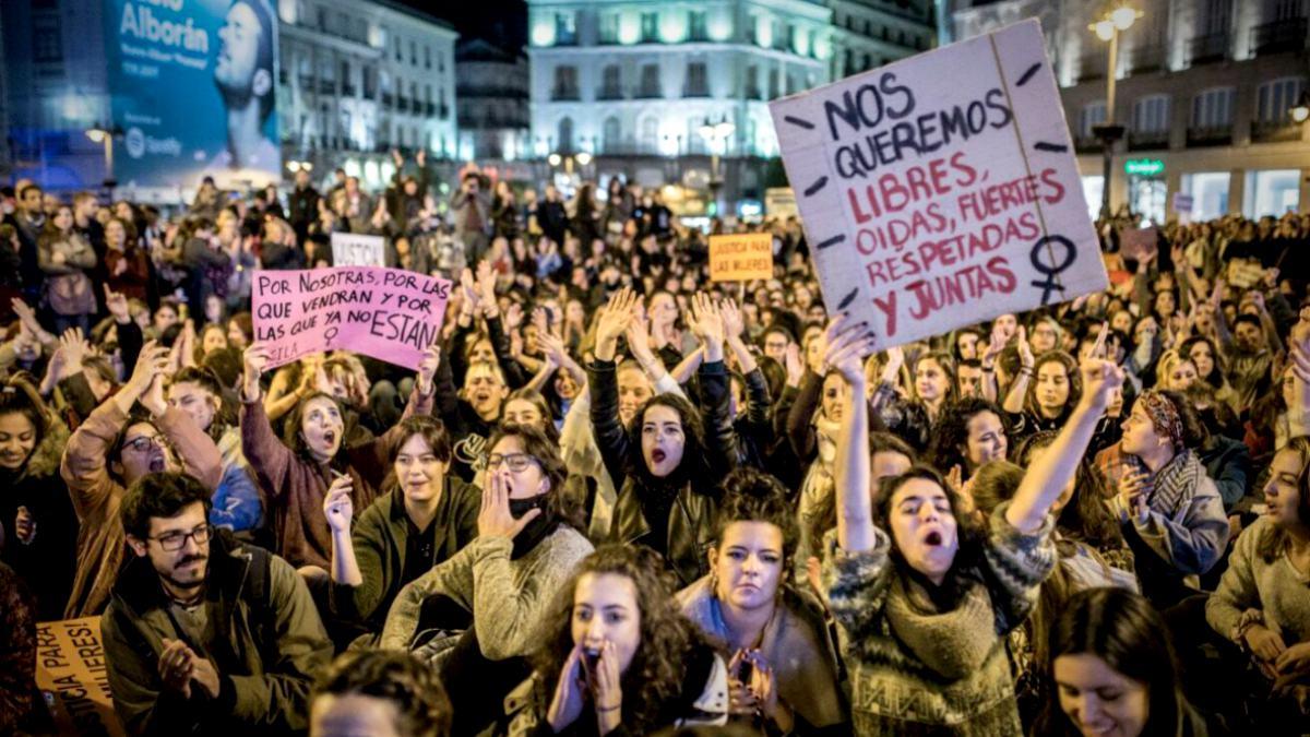 Manifestación de la huelga feminista de 2018.