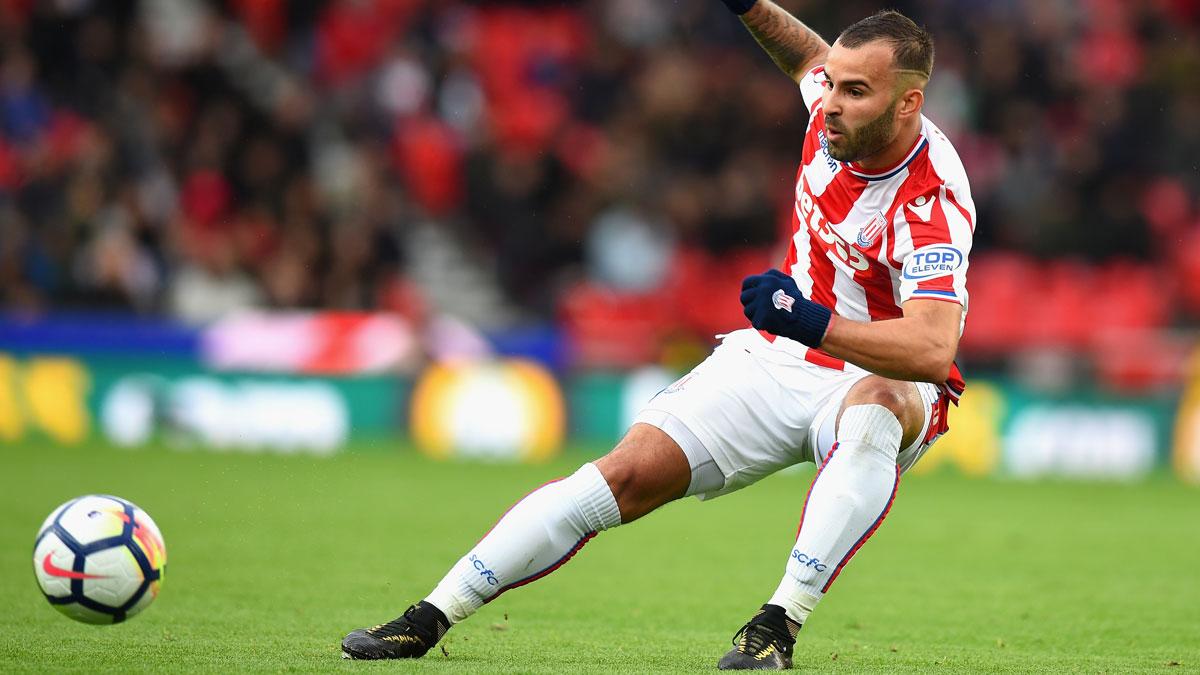 Jesé, en un partido con el Stoke City. (Getty)