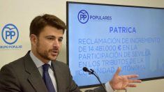 Beltrán Pérez, candidato del PP a la Alcaldía de Sevilla.
