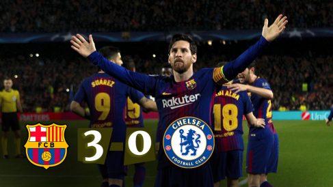 Leo Messi celebra el gol que sentenció al Chelsea. (EFE)