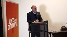 Eduard Pujol, portavoz JxCat, tras la reunión con Puigdemont en Bruselas.