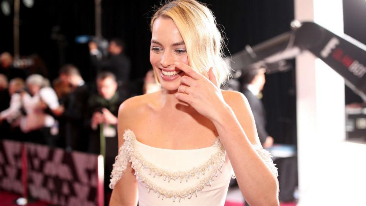 Margot Robbie en los Oscar 2018, donde compitió por el premio a mejor actriz por su trabajo en 'Yo, Tonya'. Foto: AFP