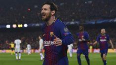 Messi celebra el primer tanto del Barcelona ante el Chelsea en Champions League. (AFP)
