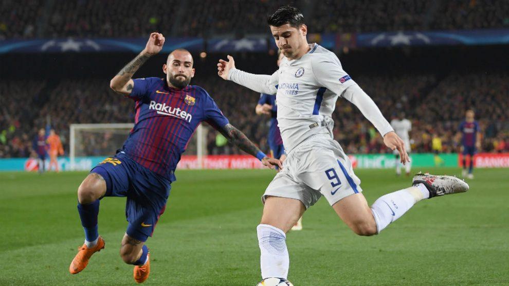 Álvaro Morata, durante el Barcelona – Chelsea. (Getty)