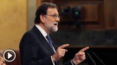 El presidente del Gobierno, Mariano Rajoy, en el Congreso de los Diputados. (Foto: EFE)