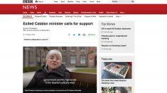 La ex consellera de Enseñanza fugada, Clara Ponsatí, en una entrevista en la BBC