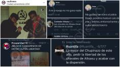 Publicaciones en el perfil del líder de Juventudes Socialistas Chamartín.