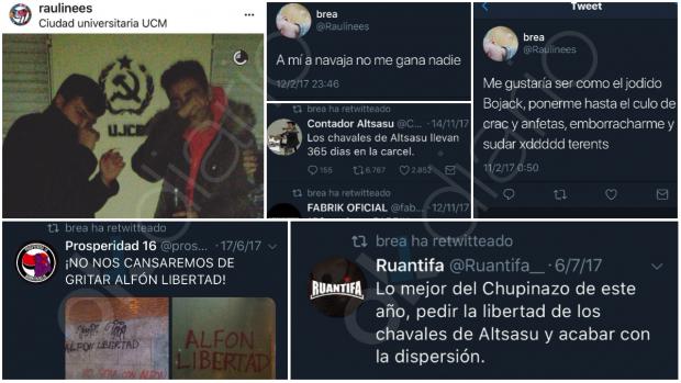 El líder juvenil del PSOE en Chamartín apoya la causa independentista y 'okupa'