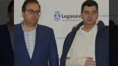 El alcalde de Leganés y el director general supuestamente agredido.