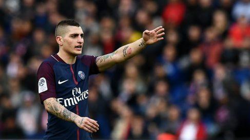 Verratti, en un partido con el PSG. (AFP)