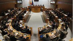 Hemiciclo de las Cortes de Aragón durante un pleno.