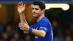 Morata, durante un partido con el Chelsea esta temporada. (Getty Images)