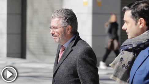Francisco Granados entrando a la Audiencia Nacional (Vídeo: Quique Falcón).