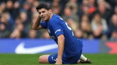 Morata, durante un partido reciente del Chelsea (Getty).