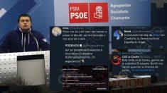 El líder de JJSS Chamartín y sus tuits y retuits. (Clic para ampliar)