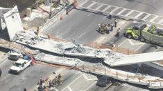 Varios muertos al derrumbarse un puente peatonal sobre una autopista en Miami