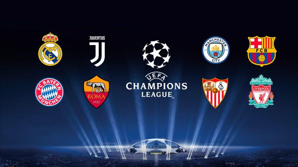 Los ocho equipos rivales en cuartos de la Champions League.
