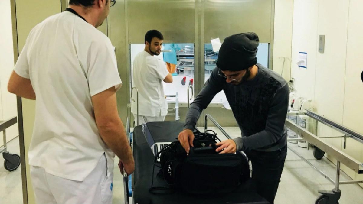 Pedro Alcalde es el arquitecto sonoro de la pieza inmersiva realizada en colaboración con Sónar+D y el Hospital Vall d'Hebron.
