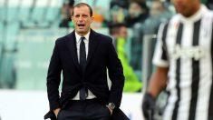 Allegri, en un partido de la Juventus. (Getty)