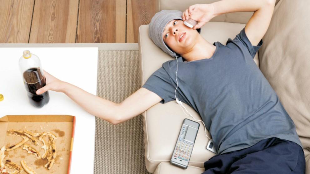 La relación entre la televisión y el cáncer de intestino.