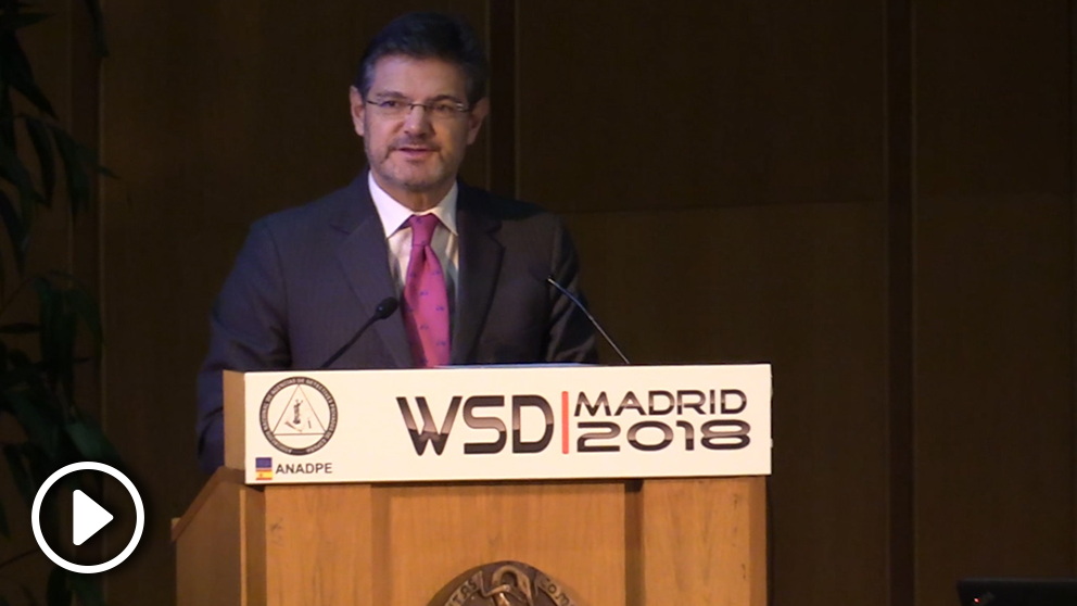 El ministro de Justicia, Rafael Catalá, en el World Summit Detectives 2018.