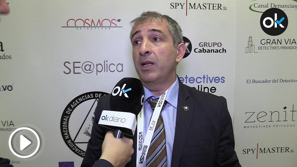 Enrique Ávila, director del Centro Nacional de Excelencia en Ciberseguridad de la Guardia Civil (Video: Alix Guereca).