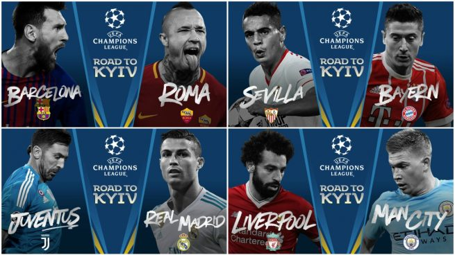 Calendario y horario de los partidos de la champions league for Cuartos de final champions