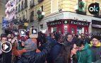 El discurso de Podemos contra la policía monopoliza una manifestación llena de tensión en Lavapiés