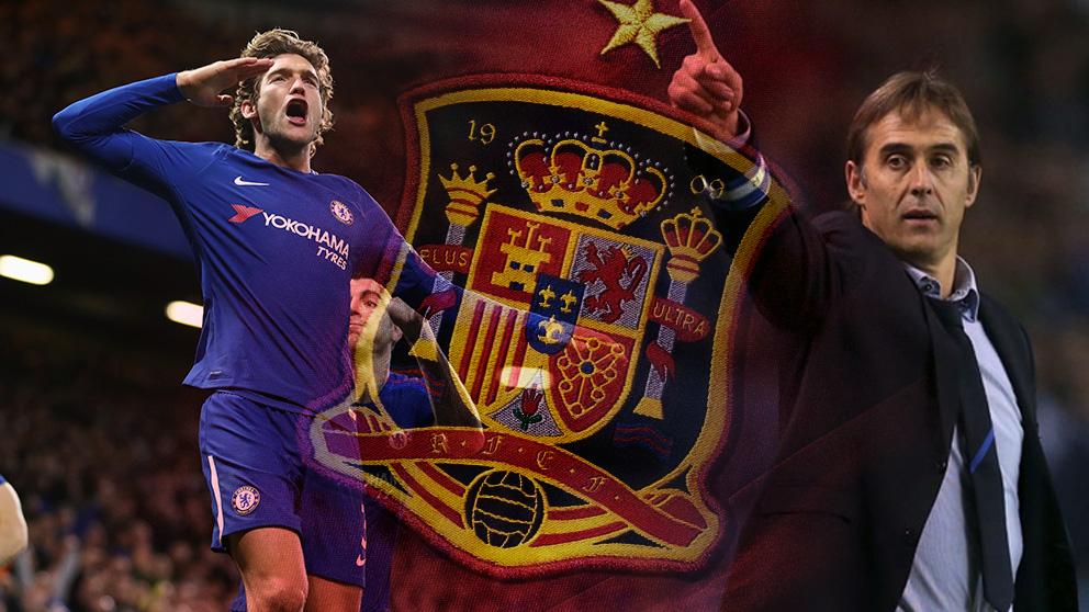 Marcos Alonso será el tercero de la saga familiar en jugar con la selección española.