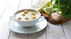 Receta de crema de brócoli y queso