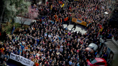 Manifestación por unas pensiones dignas en Barcelona