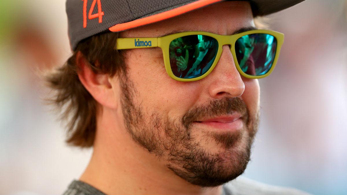Fernando Alonso durante un entrenamiento. (Getty)